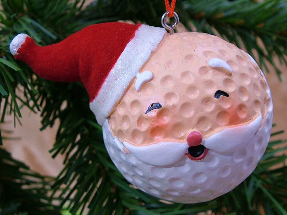 A golfer s christmas pause n throw golf training aid